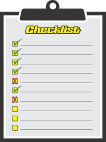 Picture of a checklist on a clipboard