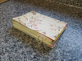 Picture of one of homemade recipe books