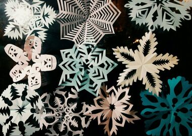 Picture of paper snowflakes